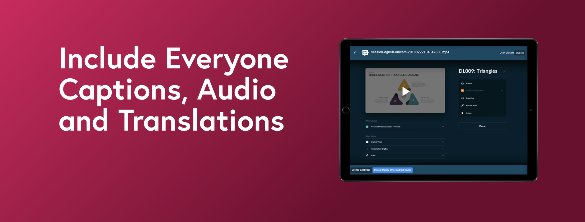 Include Everyone,Captions, Audio and Translations